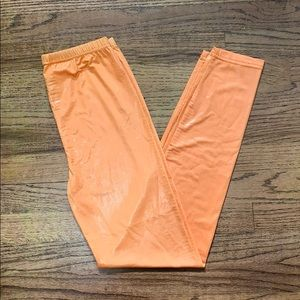 True rock Orange leggings
